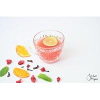 Punch hibiscus et menthe à macérer dans le rhum Chez Figue